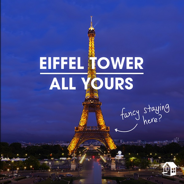 Eiffel Tower - square image - courtesy of HomeAway