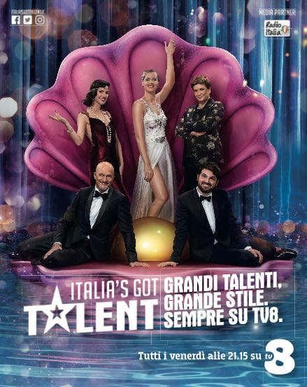 TV8 on air con gli annunci per Italia's Got Talent