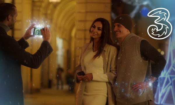 3: on air lo spot di Natale con Giorgio Chiellini e Madalina Ghenea