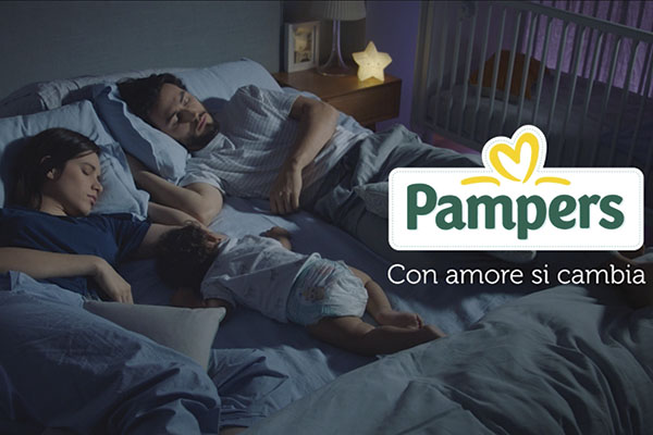 "Pampers lancia gli spot per Baby Dry e il nuovo pay off ""Con amore si cambia"". Firma Saatchi con cdp Think Cattleya"