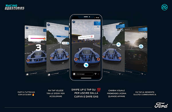 Ford Italia lancia un simulatore di guida su Instagram Stories